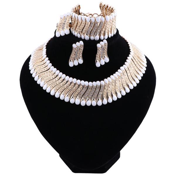 2018 Fashion New Retro Wedding Dubai Africa Nigeria African Jewelry Set Green Necklace Earrings Bracelet Ring Bridal Jewelry Sets