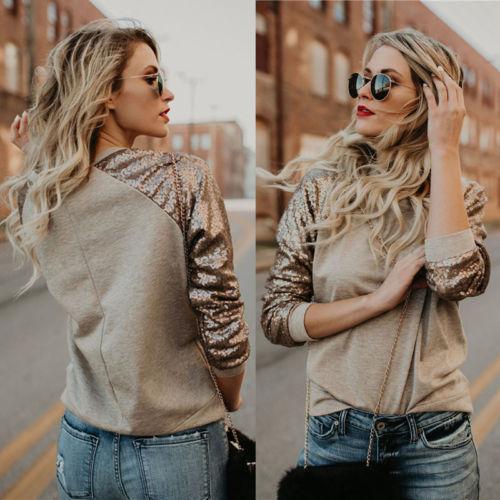 Ladies Patchwork Brief Daily Women Hoodies Top Women's Hoodie Sweatshirt Long Sleeve Jumper Pullover Tops Coat