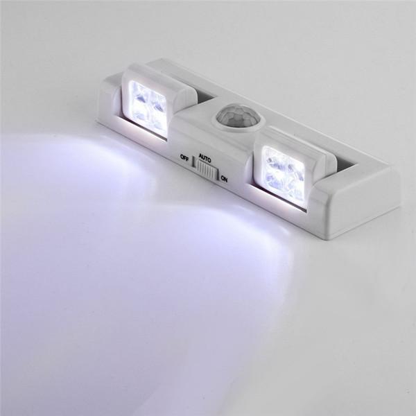 Großhandel Kabellose Bewegungsmelder Leuchte Zum Aufkleben Tragbar Batteriebetrieben 8 Led Schrank Led Nachtlicht Treppenstufenwandleuchte Q0315