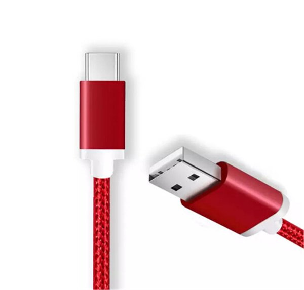 1.5M 5FT Braided USB Micro Charger durable type C Cable For Samsung HTC Sony LG Phones With Metal Head Plug