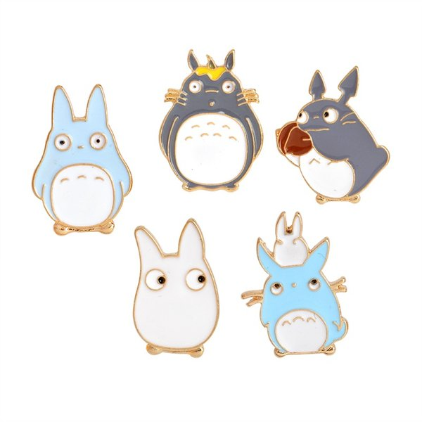 Childhood My Neighbor Lovely Totoro Chinchilla Brooch Button Pins Denim Jacket Pin Badge Cartoon Animal Jewelry Gift