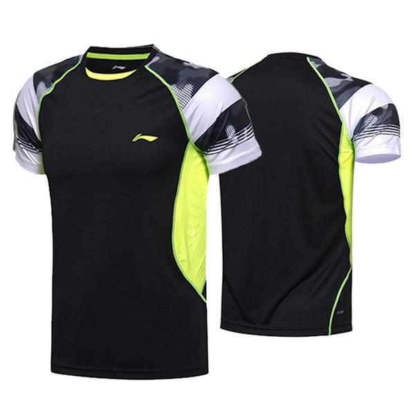 Li Ning homens badminton sportwear t-shirt, roupas de competição, camisa de tênis de mesa, jersey de tênis de mesa da mulher