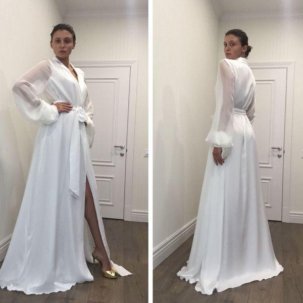 729d2bee251 black satin robes for bridesmaids Promo Codes - New Fashion Sexy White  Night Robe Bathrobe Pyjamas