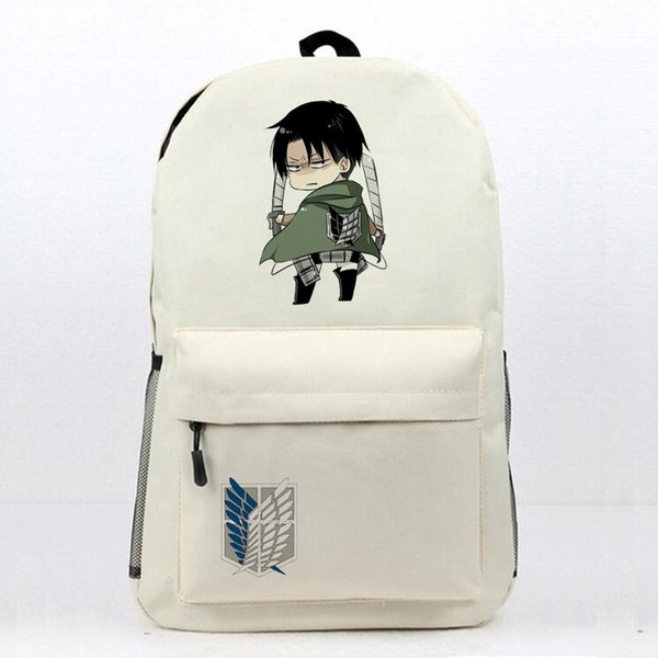 Anime Attack On Titan Laptop Backpack Daily Backpack Eren Mikasa Levi Printing Book Bag Womens Mens Teens School