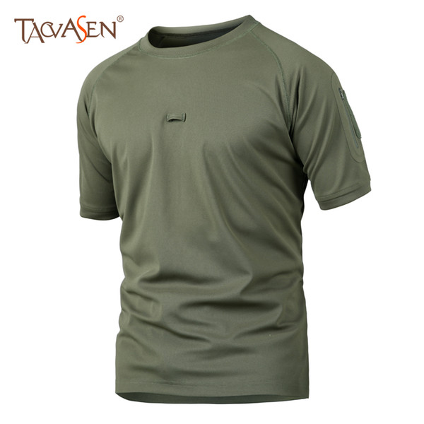 TACVASEN Men's T shirt Militare Tatical T-shirts Outdoor Hunting Clothes Camouflage Quick Dry Tees Camping Sportswear SH-XL-06