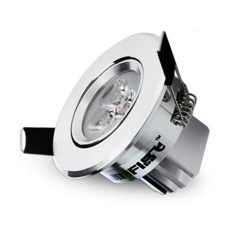 Envío gratis 1 unids plata Regulable Led luz de techo Luz del punto del techo 3 w ac85-240 V luces empotradas en el techo Iluminación Interior