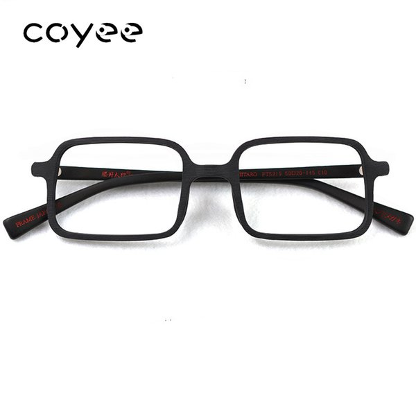 Coyee Handmade Acetate Spectacles Retro Vintage Deluxe Eyeglasses Wood style Glasses Luxury Unisex Eyewear Square Full-rim Wear