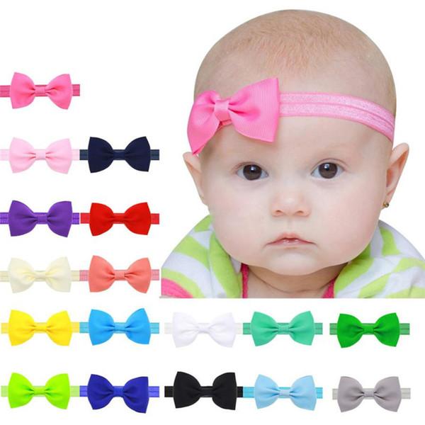 Lovely Baby Kids Girls Mini Bowknot Hairband Elastic Headband special occasions photo headbands baby headband Headwear