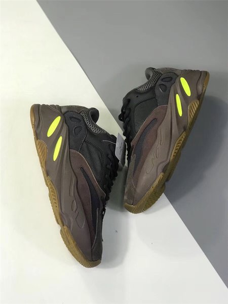 save off 8a71d 204a4 2019 Authentic WAVE RUNNER 700 Mauve EE9614 Kanye West Running Shoes For  Men Women Real Basf Bottom With Original Box Athletic Sneaker Sports From  ...