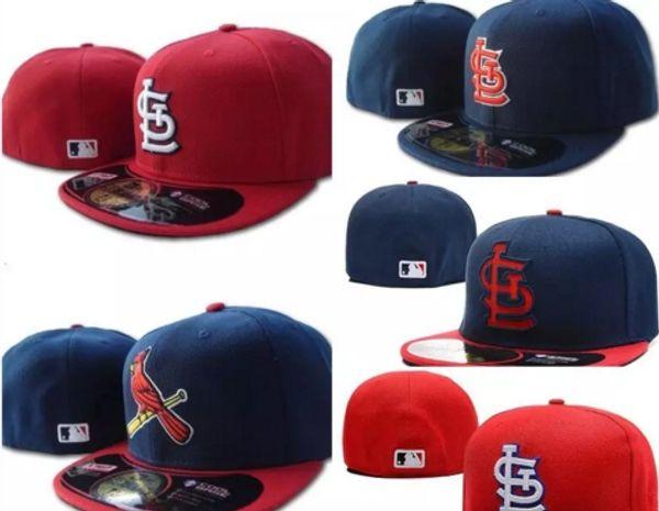 Top Qualität Herren rot auf Feld gepasst Hut bestickt Team Logo Fans Sommer Baseball Hut voll geschlossene Chapeu Marken Frauen