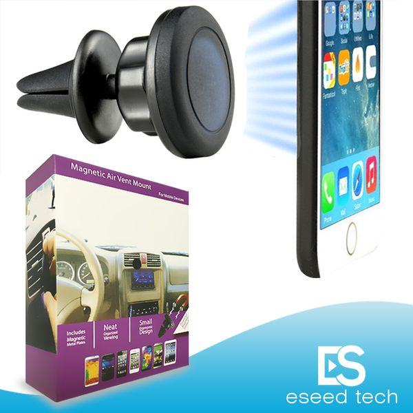 Titular magnético del soporte de la salida de aire del coche MagGrip 360 rotación Titulares universales del teléfono celular Cabeza giratoria para iPhone y Android Smartphones, GPS