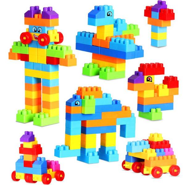 top popular 110pcs Mini Baby Construction Set Model & Building Toy Kids Plastic Intelligence Blocks DIY Educational Intellectual Toys Gift 2021