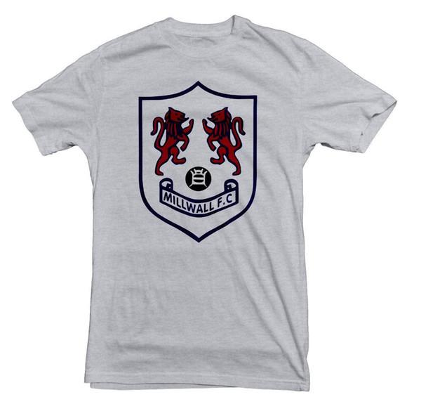 Millwall ретро стиль 02 тройник мужская 2018 модный бренд футболка  О-образным вырезом 100% 048014104b70f