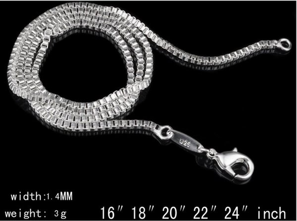 1.4mm boxes of young chain, low price chain, hot chain necklace 100pcs/lot L413