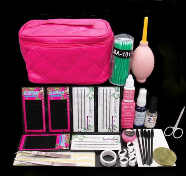 Professional False Eyelash Cosmetic Set Natural Cluster Long Individual Lashes Kit False EyeLash Lashes Makeup Set