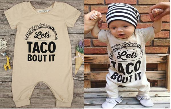 2018 Baby Pagliaccetto Neonato Lettera Stampa Tuta Ragazza Ragazzo Moda Estate Autunno Abiti Toddlers manica lunga per bambini Abbigliamento