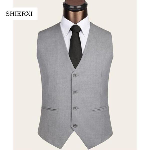 2017 New Men's Clothing Slim Colete Masculino Cotton Double Breasted Sleeveless Jacket Waistcoat Men Suit Vest