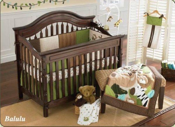 High Quality 9Pcs Baby bed linens Cotton Crib bedding set for infant boy girl Baby cot bed Quilt bedskirt blanket Urine bag