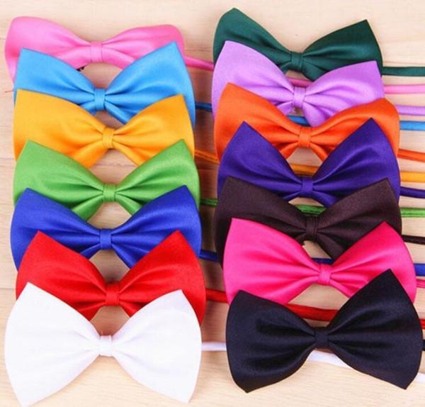 top popular Dog Children Neck Tie Bow Cat Tie Supplies Pet Headdress adjustable Baby bow tie 2020