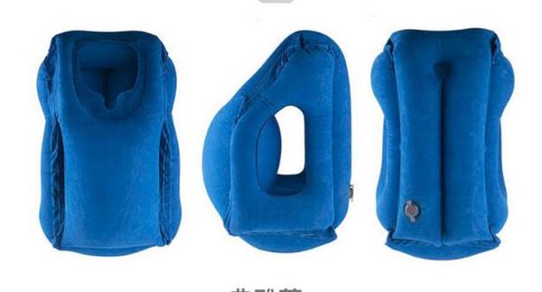Oreiller de voyage oreillers gonflables air coussin souple voyage portable produits innovants soutien du corps oreiller de cou pliable