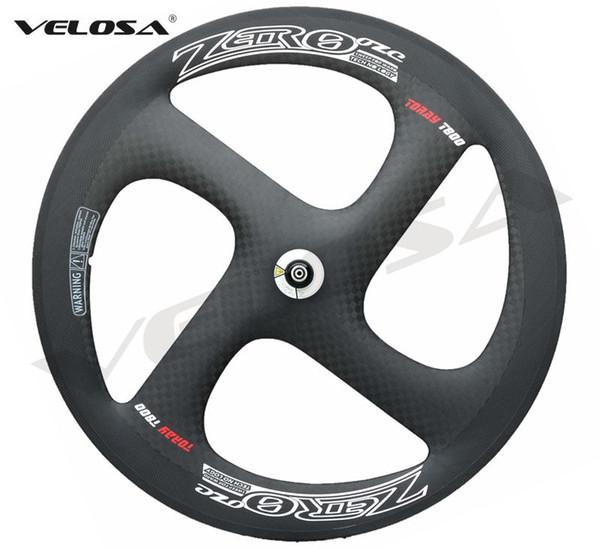 High grade T800 Full carbon 4 spoke carbon wheel,Zero-4 clincher/tubular wheelset. for Track or Road bike wheel