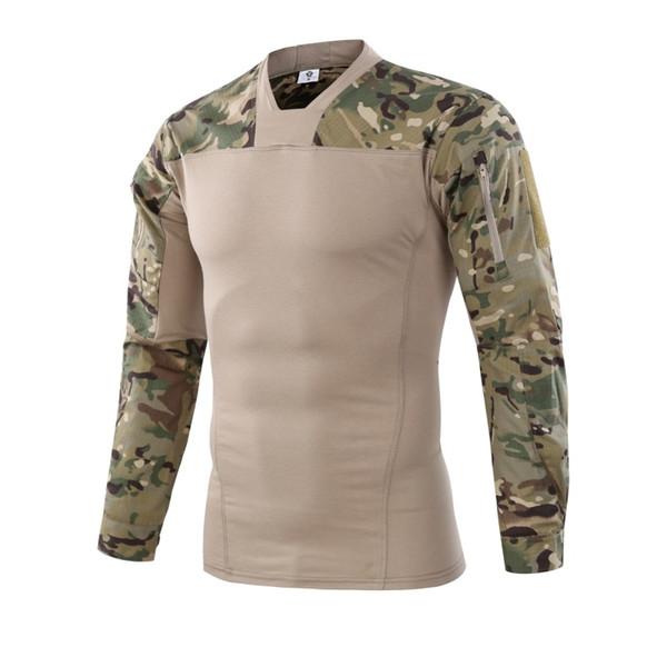 Военный Камуфляж Армия США Unifrom Боевая Рубашка с Локоть Airsoft Тактический Костюм Пейнтбол Militar Gear Охотник Одежда