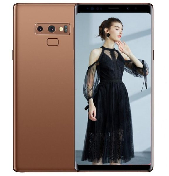 ERQIYU Goophone Note9 cell phones shown 4g lte gsm 13.0mp MTK6592 Octa Core 2560*1440 Android 9.0 unlocked 6.4inch GPS Smartphones