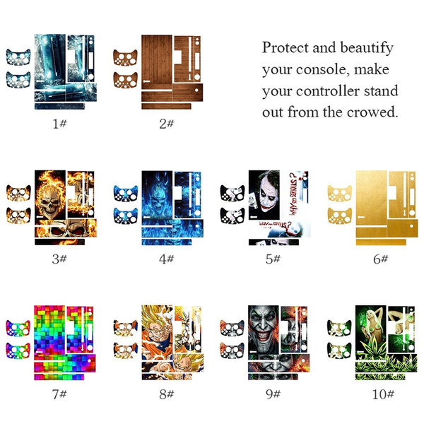 For Xbox one Console Game Skin Sticker Vinyl PlayStation Console and 2 Controllers Skins Stickers Cover Protector Decal