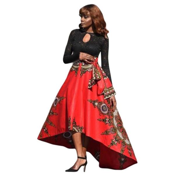 2018 New Fashion Women Printed Summer Boho Long Dress Beach Evening Party dress Print umbrella ball gown large swing dresses