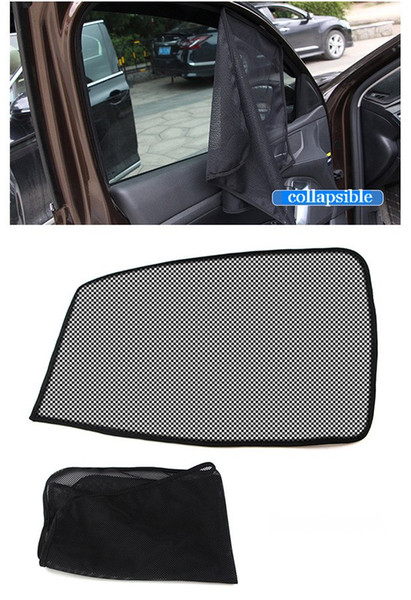 65CM Car Window Sun Shade Mesh Fabric Sun Visor Shade Cover Shield Black Auto Sunshade Curtain