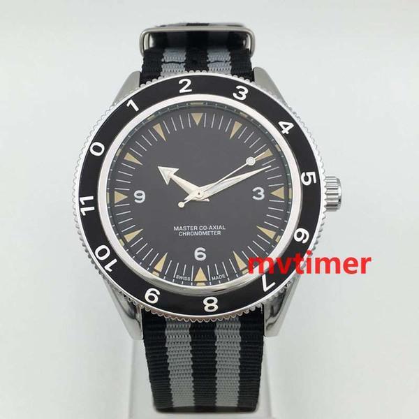 Relojes de pulsera de lujo para hombres James Bond 007 300 Master Co-Axial 41mm correa de cuarzo de la OTAN para hombre Relojes deportivos de edición limitada