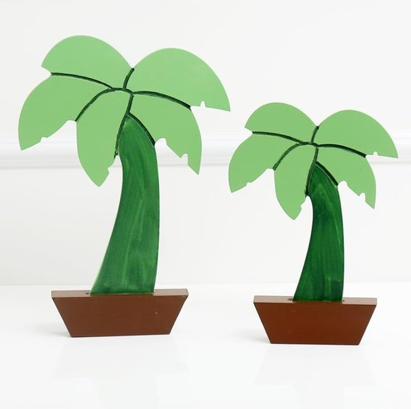 Small-size Nordic Style Coconut Trees Dimensional Modeling Potted Wooden Ornaments Decorative Props