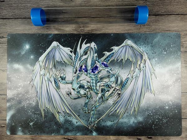 YuGiOh Stardust Dragon Playmat Benutzerdefinierte TCG OCG-Spielmatte Freies Qualitätsrohr