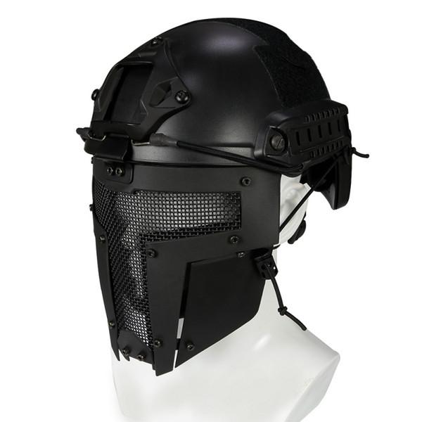 Máscara de cara completa Máscara de malla de malla metálica de acero Caza Tactical CS de protección Fiesta de Halloween Cosplay Cara completa de ciclismo