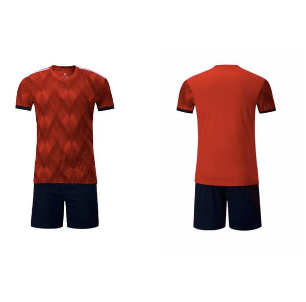 Personalizada flor roja personalizada 2018-19 casa versión en blanco del equipo de fútbol de manga corta