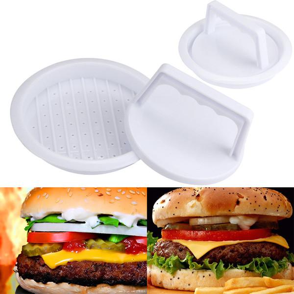Fai-da-te Hamburger Meat Press Tool Patty Makers Meat Burger Maker Stampo Food-Grade Plastic Hamburger Press Burger Maker