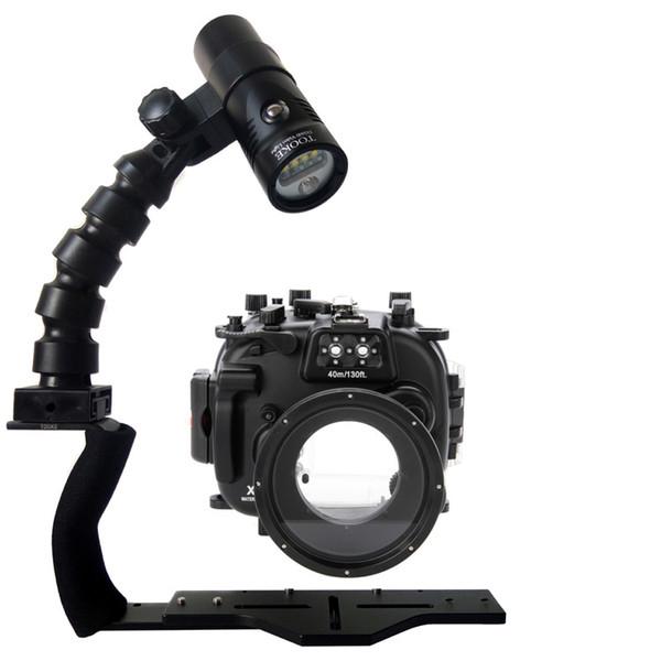 Acheter Caisson étanche Pour La Plongée Sous Marine Pour Appareil Photo Fujifilm X100s X T1 X T10 X M1 X A1 Xa 2 Support De Bras Flexible Torche