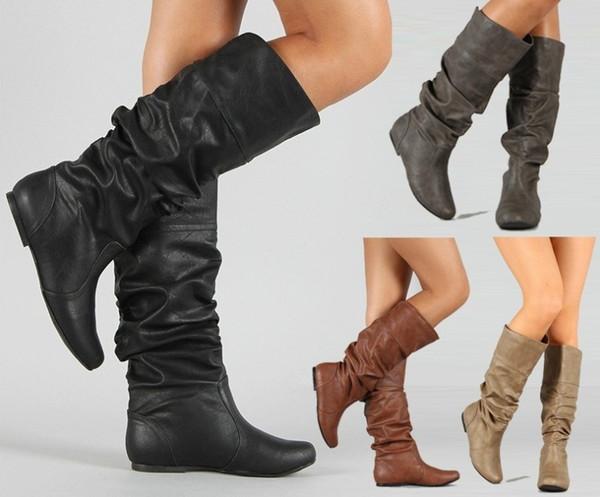 Knee High Boots Women Soft Leather Knee Shoes Comfortable Women Long Boots Shoes scarpe donna estive comode