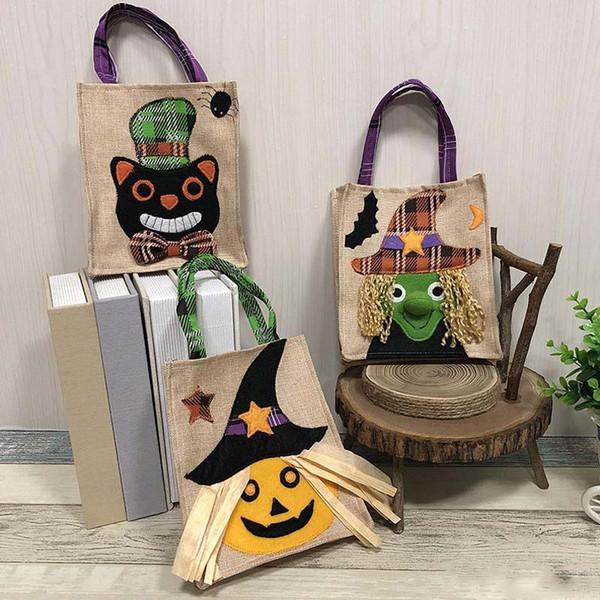 Navidad Decoraciones de Halloween No tejido Bolsas de calabaza Cestas Ghost Festival Mall Hotel Apple Bolsas de regalo de Apple 19 * 16 cm