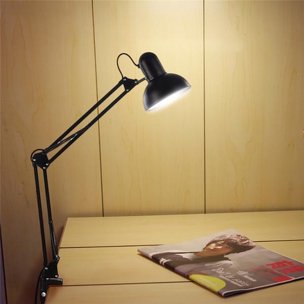 GERUITE Desk Lamp Flexible Led Desk Lamp Home Office Led Table Metal Architect Adjustable Folding Reading Light