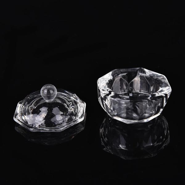 1Pc Crystal Glass Nail Art Dappen Dish Cup Acrylic Liquid Makeup Powder Nail Styling Tool Equipment Tools Beauty & Health