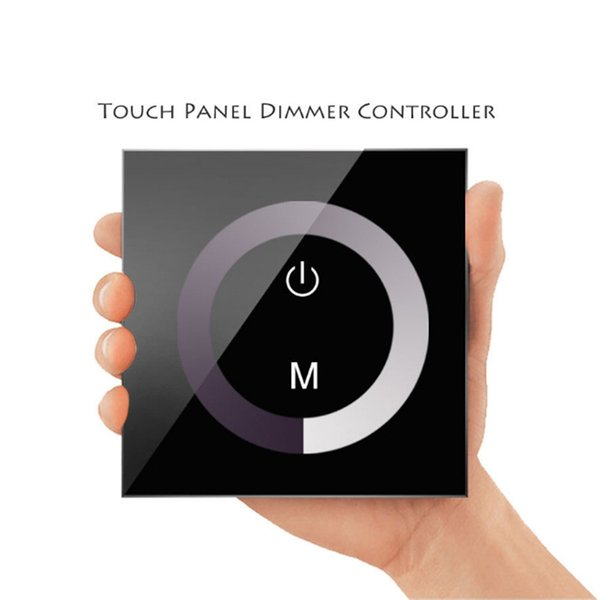 LED Streifen Licht Lampe Schwarz Weiß Home Wand Glas Touch Panel Helligkeit Controller Dimmer Wandschalter