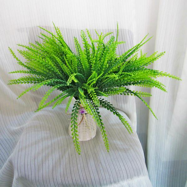Large VIVID Artificial hechizo Artificial Plantas de plástico verde para la pared de la boda Hojas decorativas Plantas acuáticas artificiales