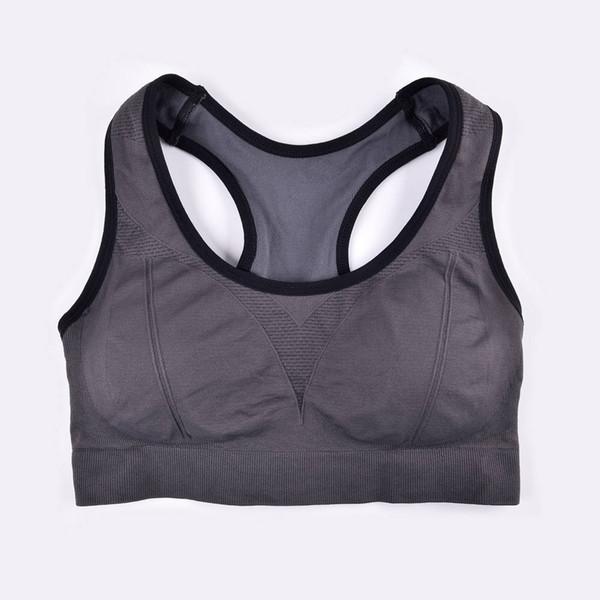 THUNSHION Sports Crop Top Gym Wear Sexy Mujeres Lencería Copa Completa Sujetador Acolchado Sin Costuras Ropa Interior