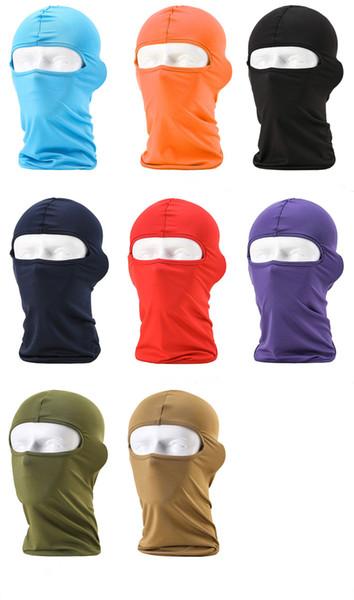 Balaclava Tampas de Ciclismo Máscaras À Prova de Vento Tático Militar Do Exército Airsoft Paintball Capacete Forro Chapéus UV Bloqueio Proteção Máscara Facial Completa