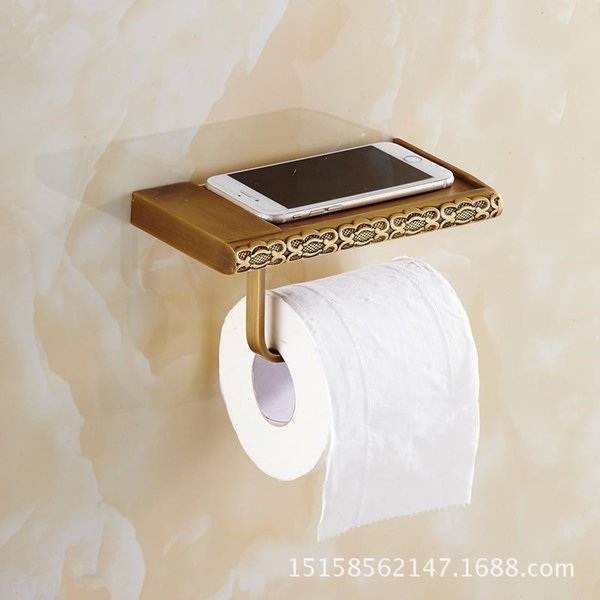 Antique paper towel holder roll holder toilet paper tray toilet tissue box mobile phone