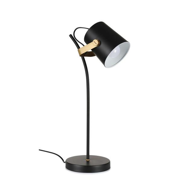 Nordic Brief moderne tischlampe Kreative schreibtisch licht Eisen kunst schwarz E27 led lampe studie schlafzimmer leuchte haus leselampe