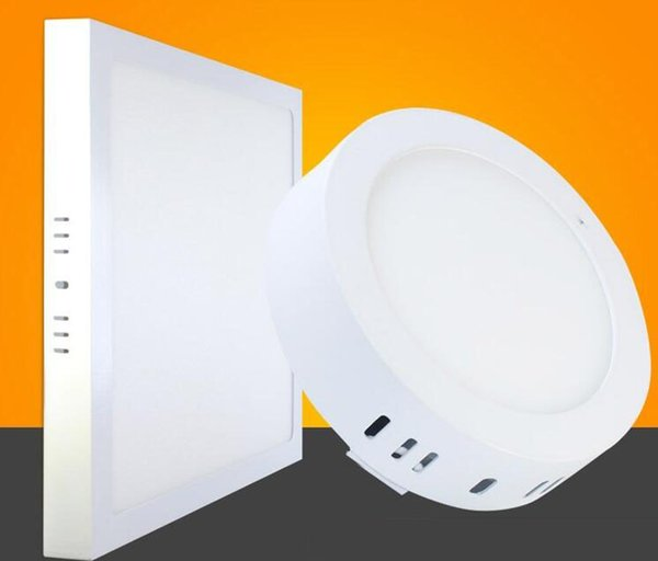 Factory spot CE adjustable 9W 15W 21W round / square LED panel surface mounted lighting LED ceiling lamp 110-240V+ driver