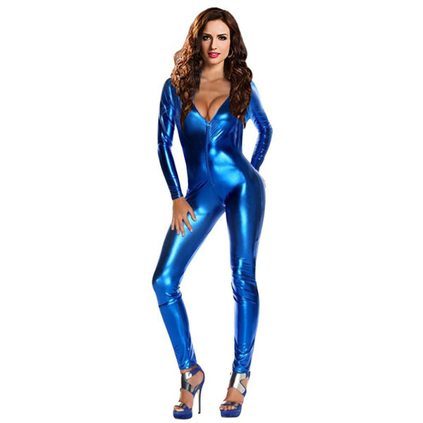 2018 New Sexy DS Elastic Bronzing Dance Performance Dance Costume Bar Dj Pole Dancing Stage Performance Costume 5 Colors