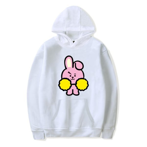 Fashion BTS Sweatshirts Men Top Sale Fleece Hoodies Men Sweatshirts Lovely Cartoon Skateboard Streetwear Sweater Hip-hop Hoodie Sweatshirt